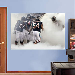 Brian Urlacher Making an Entrance - In Your Face Mural Fathead Wall Decal