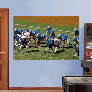 Lions-Bears Line of Scrimmage Mural Fathead Wall Decal