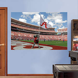 Alabama Crimson Tide Big Al Flag Mural Fathead Wall Decal
