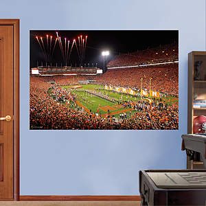 Clemson Tigers - Memorial Stadium Night Mural Fathead Wall Decal