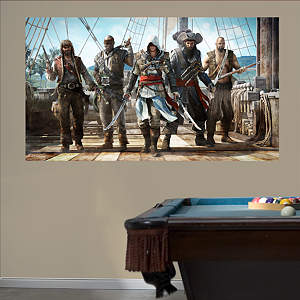 Pirate Group Mural: Assassin's Creed IV Fathead Wall Decal