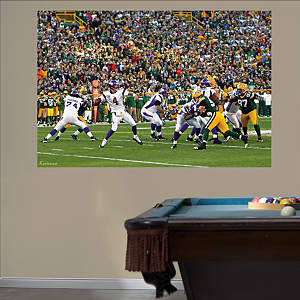 Brett Favre VS. the Packers Mural Fathead Wall Decal
