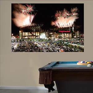 Outside Lincoln Financial Field Mural Fathead Wall Decal