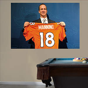 Peyton Manning - Broncos Jersey Mural Fathead Wall Decal