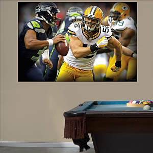Clay Matthews Pursuit Mural Fathead Wall Decal