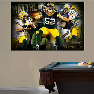 Clay Matthews Montage Mural Fathead Wall Decal