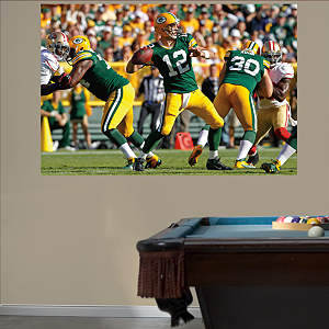 Aaron Rodgers Passing Mural Fathead Wall Decal