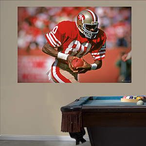 Jerry Rice In Your Face Mural Fathead Wall Decal