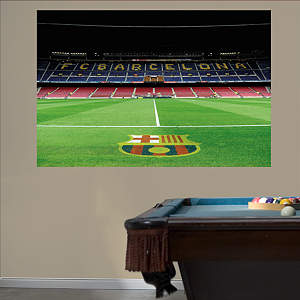 Inside Camp Nou Mural Fathead Wall Decal