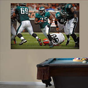 LeSean McCoy In Your Face Mural Fathead Wall Decal