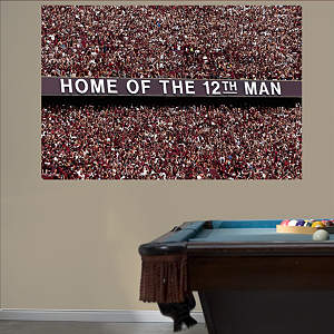 Texas A&M Aggies - 12th Man Mural Fathead Wall Decal