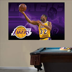 Magic Johnson Mural Fathead Wall Decal
