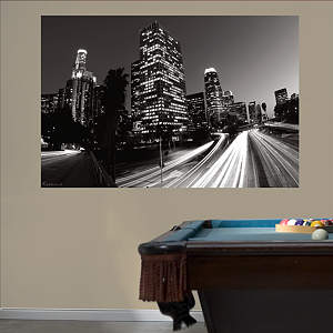 Los Angeles Skyline Mural Fathead Wall Decal