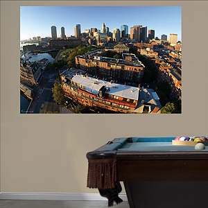 Boston Skyline Mural Fathead Wall Decal