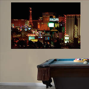 Las Vegas Strip Mural Fathead Wall Decal