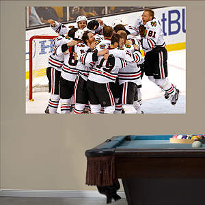 Chicago Blackhawks 2013 Stanley Cup Celebration Mural Fathead Wall Decal