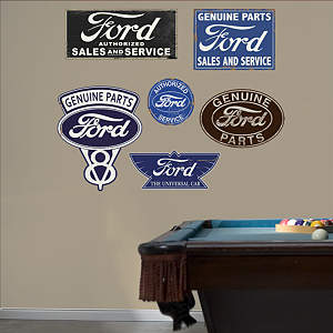 Ford Garage Signs  Fathead Wall Decal