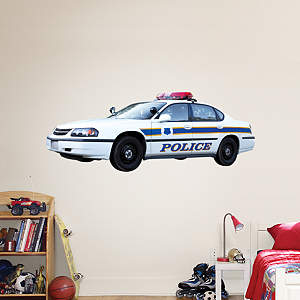 Police Car Fathead Wall Decal