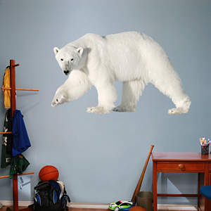 Polar Bear Fathead Wall Decal