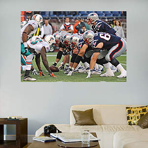 Patriots-Dolphins Line of Scrimmage Mural Fathead Wall Decal