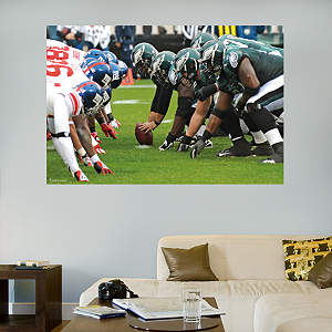 Eagles-Giants Line of Scrimmage Mural Fathead Wall Decal