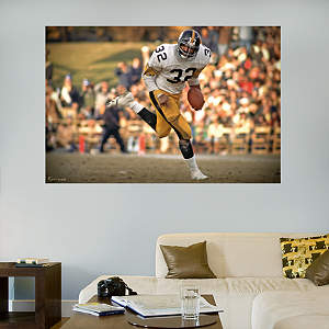 Franco Harris In Your Face Mural Fathead Wall Decal