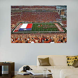 Darrell K Royal - Texas Memorial Stadium Flag Mural Fathead Wall Decal