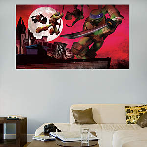 Teenage Mutant Ninja Turtles Rooftop Mural Fathead Wall Decal