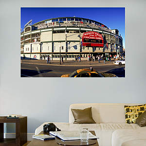 Outside Wrigley Field Mural Fathead Wall Decal
