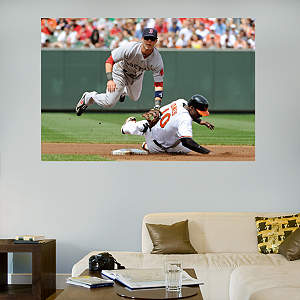 Dustin Pedroia Turn 2 Mural Fathead Wall Decal