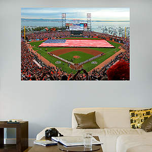 AT&T Park American Flag Mural Fathead Wall Decal