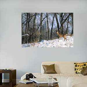 Deer in the Woods Mural Fathead Wall Decal