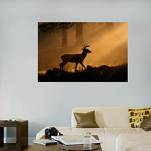 Deer Silhouette Mural Fathead Wall Decal