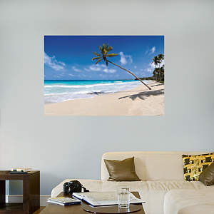 Tropical Beach Mural Fathead Wall Decal