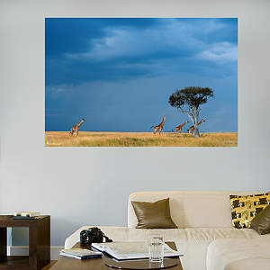 African Savanna Mural Fathead Wall Decal