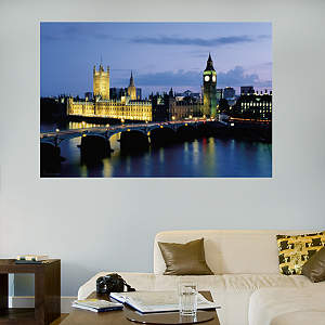 Big Ben & Parliament Mural Fathead Wall Decal