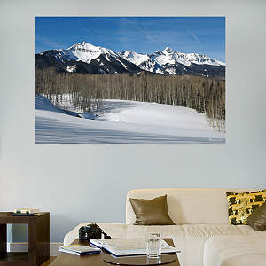 Telluride Snow Capped Mountains Mural Fathead Wall Decal