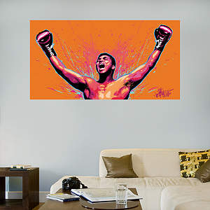 Muhammad Ali Celebration Illustration Mural Fathead Wall Decal