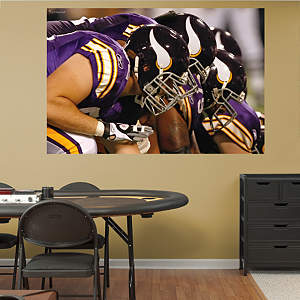 Vikings Line In Your Face Mural Fathead Wall Decal