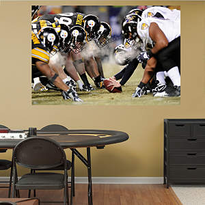 Steelers-Ravens Line of Scrimmage In Your Face Mural Fathead Wall Decal