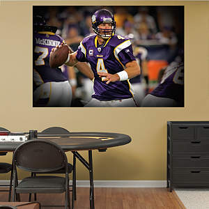 Brett Favre In Your Face Mural Fathead Wall Decal