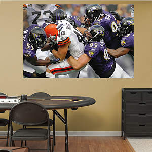 Ravens Defense In Your Face Mural Fathead Wall Decal