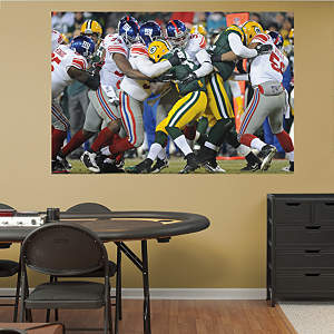 Giants Playoff Defense - In Your Face Mural Fathead Wall Decal