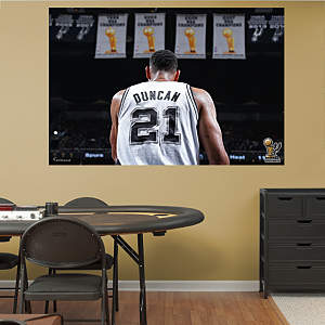 Tim Duncan Champion Mural Fathead Wall Decal