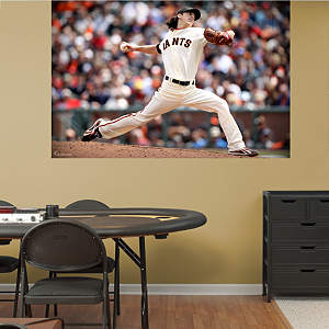 Tim Lincecum Mural Fathead Wall Decal