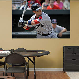 Dustin Pedroia Mural Fathead Wall Decal