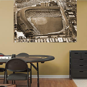 Wrigley Field Historic Aerial Mural  Fathead Wall Decal