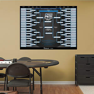 2014 NCAA Men's Basketball Tournament Bracket Fathead Wall Decal