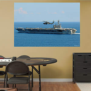 USS George H.W. Bush CVN-77 Mural Fathead Wall Decal