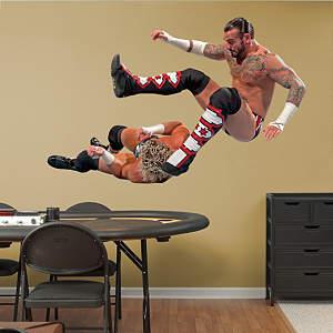 CM Punk Leg Drop  Fathead Wall Decal